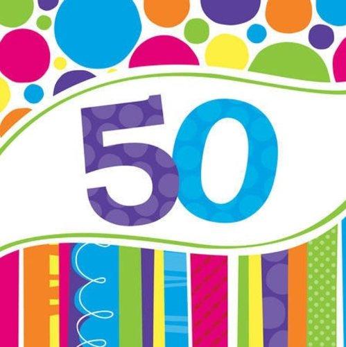 50th Birthday Napkins - 7