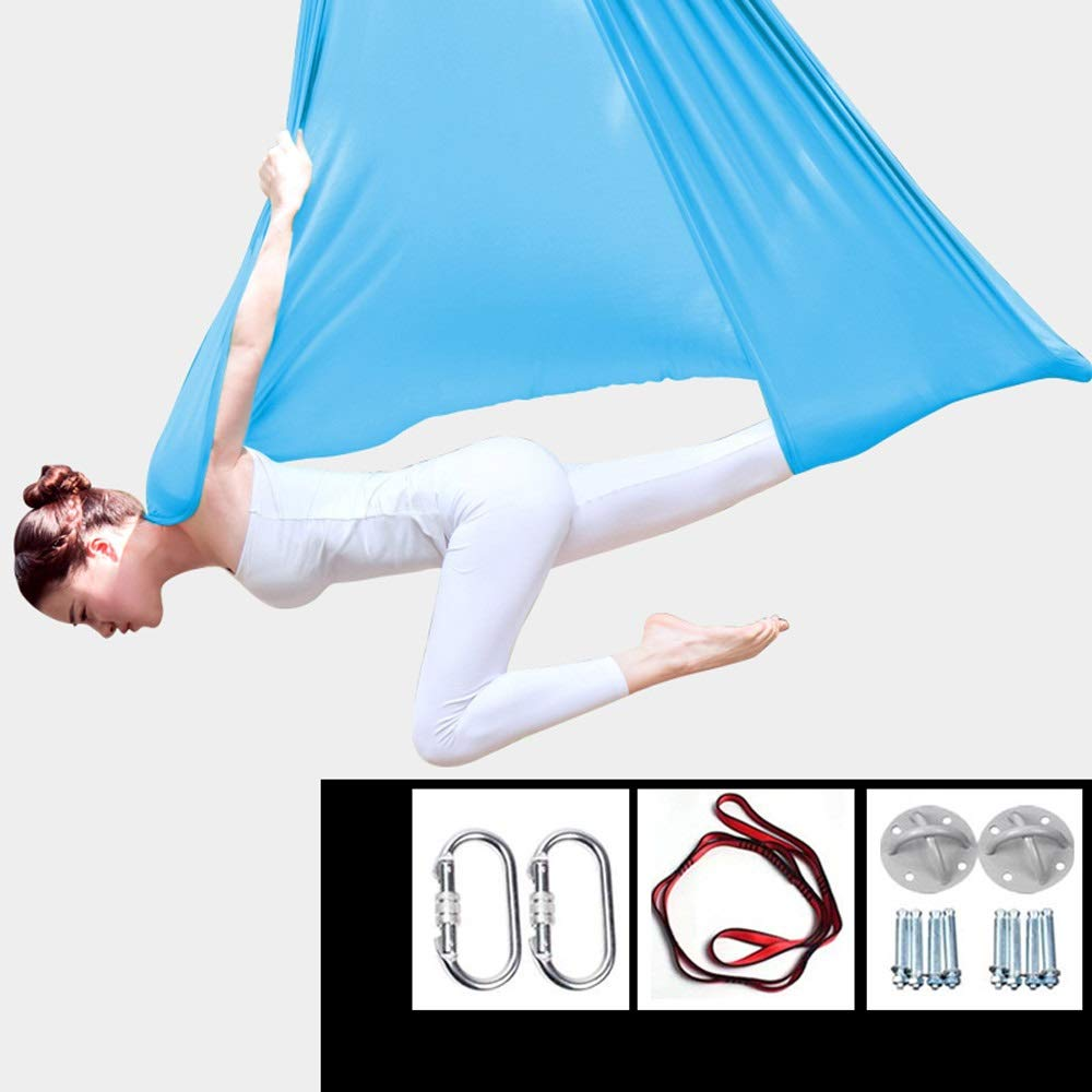 XDTCHEN Yoga Swing,Yoga Hammock Flying Hammock Swing Aerial Yoga Hammock Silk Fabric with Carabiner &Daisy Chain for Yoga Anti-Gravity Pilates,Aerial Acrobatic,Circus Arts, Aerial Dance by XDTCHEN