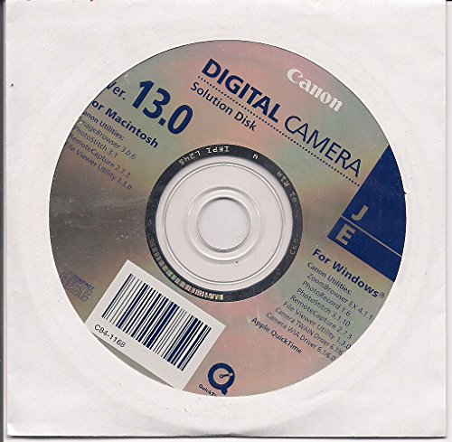 Canon Digital Camera Solution Disk Ver. 13.0 Digital Camera Solution Cd Rom