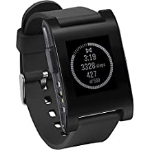 Pebble Smartwatch for iPhone and Android (Black)
