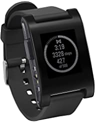 Pebble E-Paper Smart Watch for iPhone and Android Devices (Black)