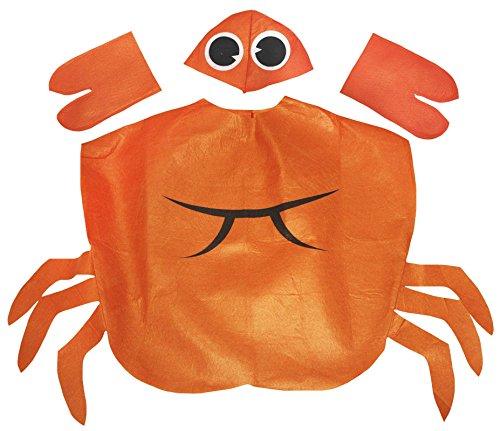 Petitebella Orange Crab Costume Unisex Children 3-7y (Orange)