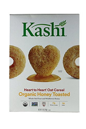 Kashi Heart to Heart Honey Toasted Oat Cereal, 12 Oz. (Pack of 3)