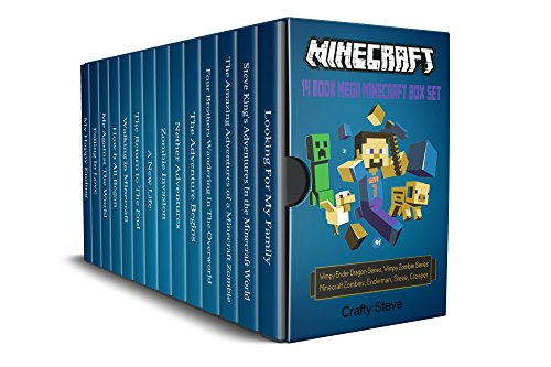 Minecraft: 14 Book Mega Minecraft Box Set: Minecraft Wimpy Zombies, Minecraft Creeper, Minecraft Steve, Minecraft the island, Minecraft Enderman, Minecraft Wimpy Ender Dragon, Minecraft Crash