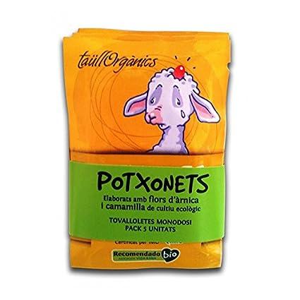 TaüllOrganics -Árnica Infantil - Potxonets Pack de 5 toallitas árnica monodosis para pequeños golpes con