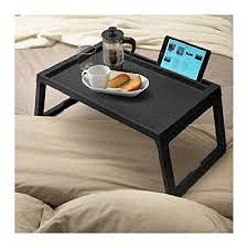 IKEA cama KLIPSK bandeja, bandeja para desayuno plegable - Tamaño Longitud: 56 cm, ancho: 36 cm, altura: 26 cm (negro): Amazon.es: Hogar