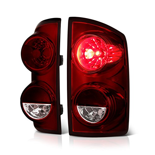 VIPMotoZ 2007-2008 Dodge RAM 1500 2500 3500 Tail Lights - [Factory Style] - Rosso Red Housing, Smoke Lens, Driver and Passenger Side