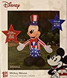 Patriotic Inflatable 5' Mickey Mouse Uncle Sam