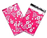 6'' x 10'' Pink Hawaiian FLAT POLY Mailers -USPS Approved Shipping Envelopes (Lot of 100)