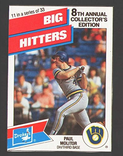 Milwaukee Brewers Pitcher - 1988 Drake#39;s Big Hitters Super Pitchers - MILWAUKEE BREWERS
