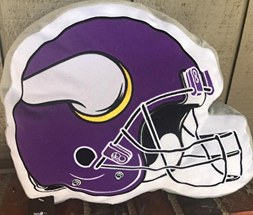 Minnesota Vikings Helmet Pillow 15 by 12 inches New