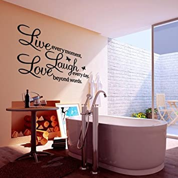 PVC LIVE LAUGH LOVE Letters Removable Room Art Mural Wall Sticker Decal Part 66