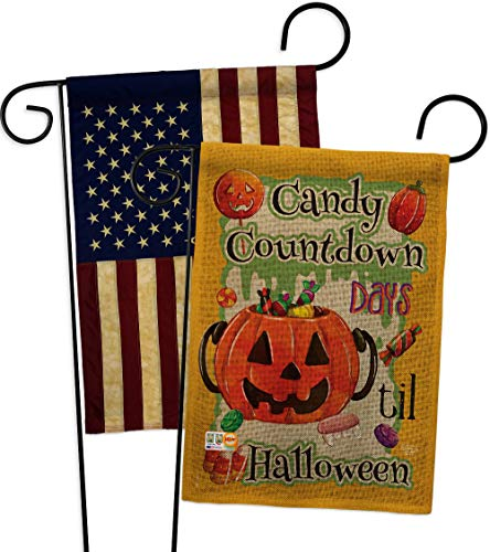 Ornament Collection GP191032-DBAA Candy Countdown Burlap Fall Halloween Impressions Decorative Vertical 13
