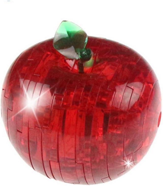 rot Xshuai Spielzeug 3D Kristall Puzzle niedlichen Apfel Obst Modell DIY Gadget Bl/öcke Geb/äude Spielzeug Geschenk Neue 2018 rot, gr/ün