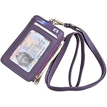 Fashion Women Men Travel Business Credit Id Badge Card Holder Coin Purse Synthetic Leather Retractable Reel Keychain Skillful Manufacture Luggage & Bags Card & Id Holders