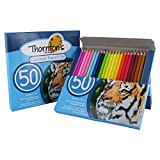 Thornton's Art Supply Soft Core 50 Piece Artist Grade High Quality Colored Pencil