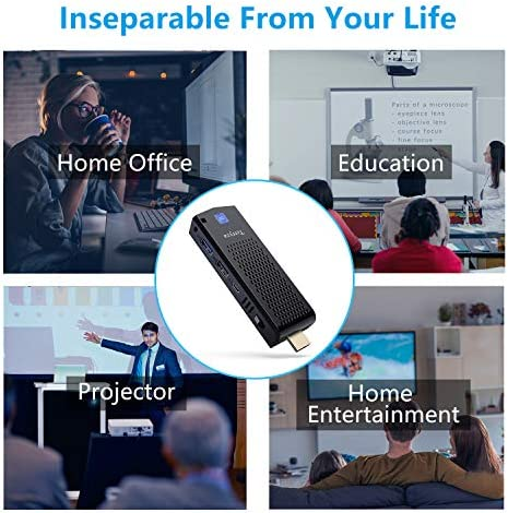 Mini Computer Stick with Intel Atom X5-Z8350,4GB DDR3 64GB eMMC Fanless Micro PC Pre-Installed Windows 10 Pro Support Bluetooth 4.2,WiFi 2.4G/5G and 4K HD
