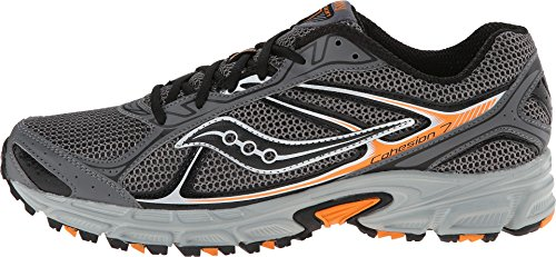 Saucony Cohesion TR 7 Mens Athletic Running Grey/Black/Orange Shoes 9.5 M US