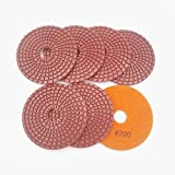 7pcs/set Professional polishing pads for marble & granite Diameter 100mm wet sanding discs (7pcs G200)