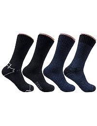 Dickies Men's 4 Pack All Season Marled Moisture Control Crew Socks