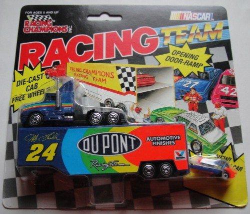 RACING CHAMPIONS DU PONT JEFF GORDON NASCAR TRANSPORTER CAR SET