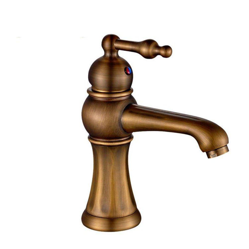 Verbreitete herkömmliche Badezimmer Wasserhahn Messing Garderobe Waschbecken Mischbatterie Waschbecken Mischbatterie Waschbecken Waschtisch Mischer heißem und kaltem Leitungswasser