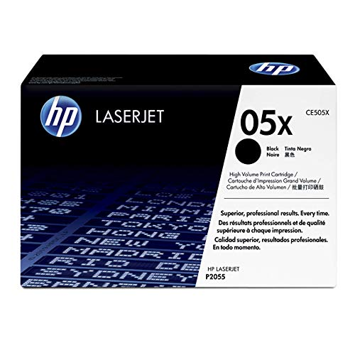 HP 05X (CE505X) Black High Yield Toner Cartridge for HP LaserJet P2055 P2055d P2055dn P2055x