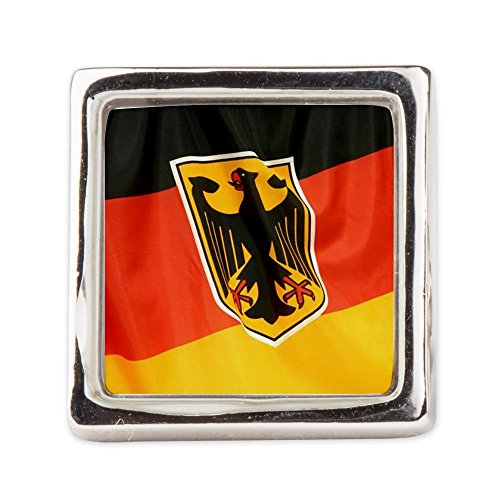 Fashion Ring (Square) German Flag Waving