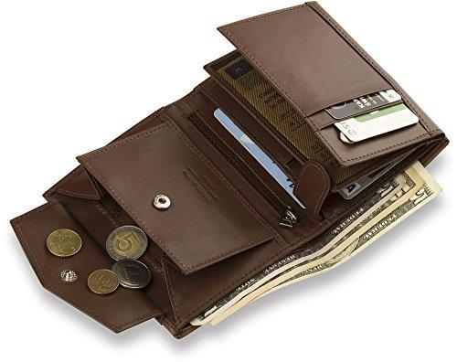 stilvolle Leder - Brieftasche PIERRE CARDIN Herren - Geldbörse Geldbeutel