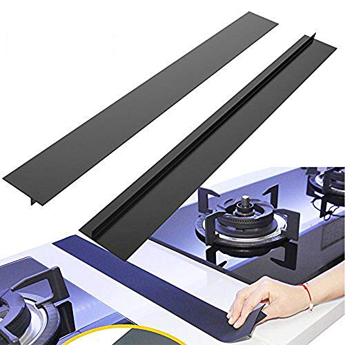 BRILLIFE Kitchen Silicone Stove Counter Gap Cover, 2Pcs Long & Wide Gap Filler 21