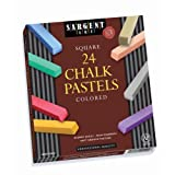 Sargent Art 22-4124-24 Count Colored Square Chalk Pastels