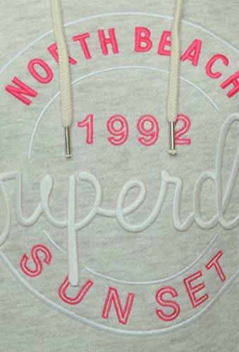 SUPERDRY APPLIQUE CROP HOOD Ice Marl