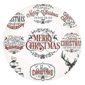 alfombrilla de ratón Navidad iconos retro, elementos e ilustraciones Set - ronda - 20cm