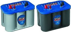 Optima Batteries 8016-103 D34M BlueTop Starting and Deep Cycle Marine Battery + Batteries 8006-006 34M BlueTop Marine Starting Battery