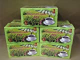 6 Box Ganoderma Brand Green Tea Sugar Free - Low Caffeine (20 Count Per Box)