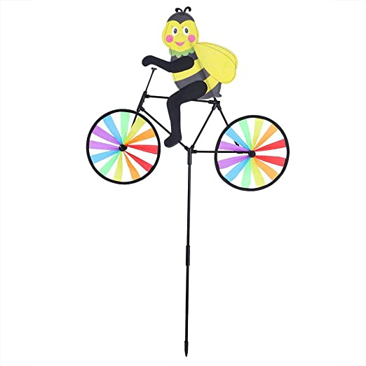Mumusuki DIY Colorido Molino de Viento Banner Animal Bicicleta ...