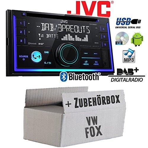 VW Fox - Autoradio Radio JVC KW-DB93BT - 2-Din DAB+ Bluetooth MP3 USB - Einbauzubehö r - Einbauset JUST SOUND best choice for caraudio VWFox_KW-DB93BT