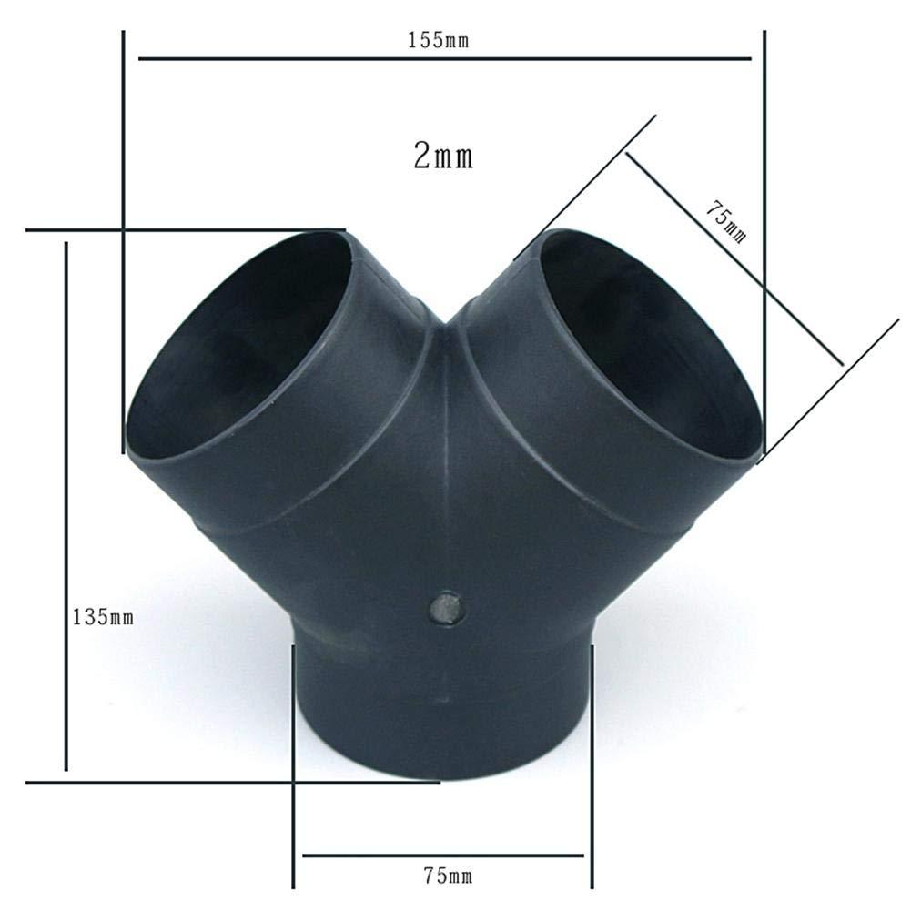 Ingeniously Auspuff Anschluss 75mm Kunststoff Luftf/ührung Y Rohrbogen Auslass Anschluss Luft Standheizung Zubeh/ör f/ür Diesel Standheizung