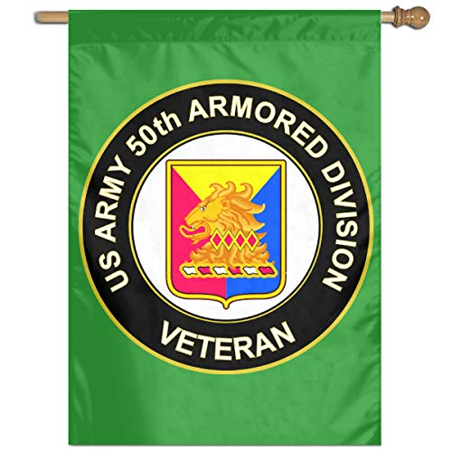 (U.S. Army 50th Armor Unit Crest Veteran Home Banner Flags Springtime 27