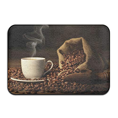 Hugging Bag Bean (Non-slip Stain Fade Resistant Door Mat Bag Coffee Bean Living Dining Room Rug 23.615.70.39Inch)