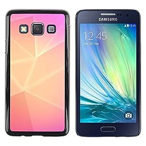 TopCaseStore / la caja del caucho duro de la cubierta de protección de la piel - Pink Lines Purple Clean - Samsung Galaxy A3 SM-A300