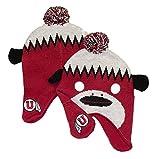 NCAA Licensed Utah Utes Girl's Size (7-16) Monkey Style Pom Beanie Hat Cap Lid (Girls (7-16))