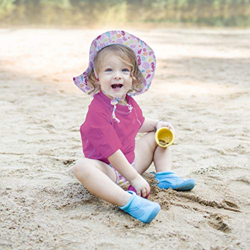 4ddf8879a50d1 i play. Girls  Toddler Brim Sun Protection Hat-Pink Sealife-2T 4T ...