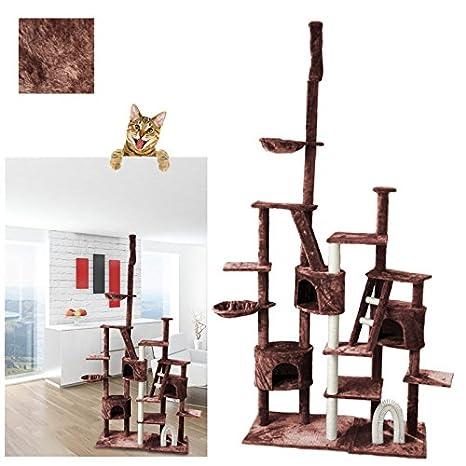 Vingo® gemütlich Árbol para gatos con dormir Espacio 230 cm de alto con cestas para