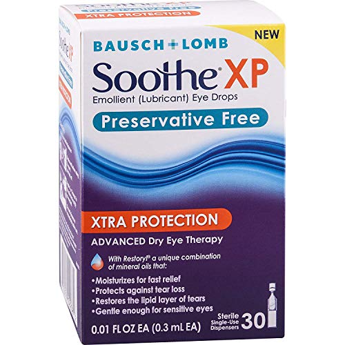 Soothe XP Preservative Free Xtra Protection Dry Eye Drops, 30 Single-use Dispensers (Pack of 2) ()