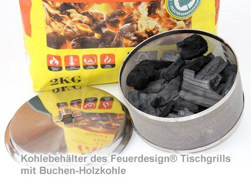 inklusive Stabfeuerzeug FD Feuerdesign /® Ersatz-Kohlebeh/älter aus Edelstahl f/ür Modelle TEIDE u SANTORIN