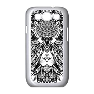 Diy Tribal Lion Phone Case for samsung galaxy s3 White Shell Phone JFLIFE(TM) [Pattern-2] hjbrhga1544