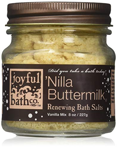 Joyful Bath Nilla Buttermilk Renewing Bath Salts, Vanilla, 8 Ounce