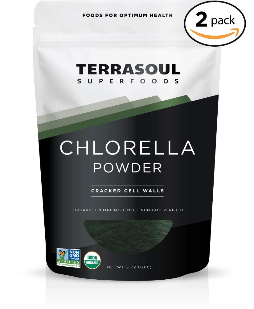 Terrasoul Superfoods Organic Chlorella Powder (Cracked Cell Walls), 12 Ounces - Sourced from Taiwan