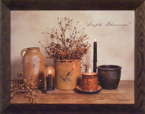 Simple Blessings by Billy Jacobs 22x28 Crocks Candles - Primitive Decor Pictures